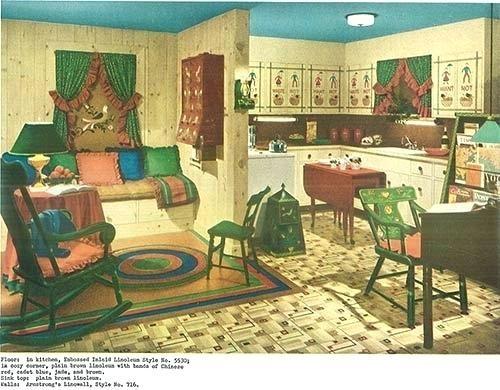 een voorbeeld van interieur uit de jaren 40