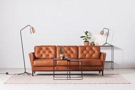 Eton soffa/soffa - 3-sits soffa i läder Sauvage - Svenska Hem
