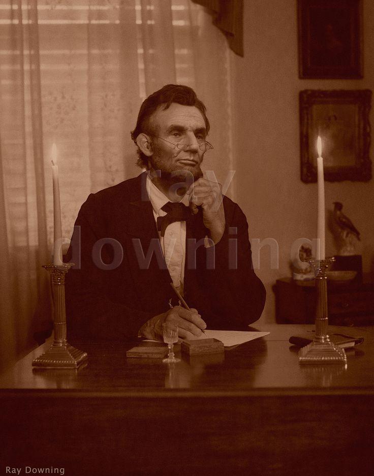 Abraham Lincoln at his desk