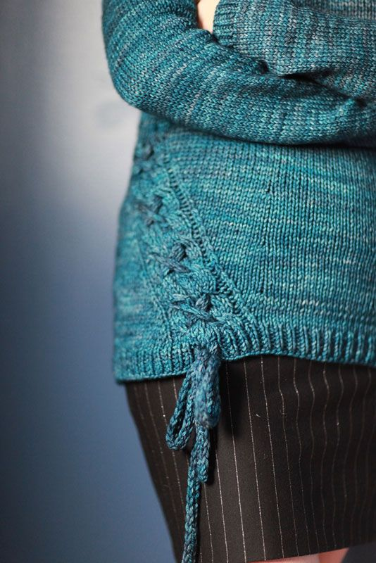 Free Knit Sweater Pattern with gorgeous cable features.  Multiple adult sizes available!