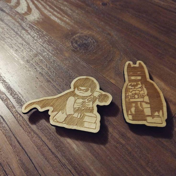 Birthday unveiling of the newest magnet collection from @mozug_custom_woodworking Lego Batman Movie! #batman #robin #batmanandrobin #dynamicduo #lego #legobatman #legobatmanmovie #dccomics #dc #comics #pawildsmade #woodworking #shoplocal #localbusiness #smallbusiness #dadlife #dadgoals