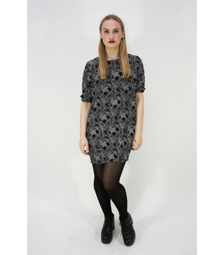 Whyred Graphic Night Silk Dress (Sold Out)