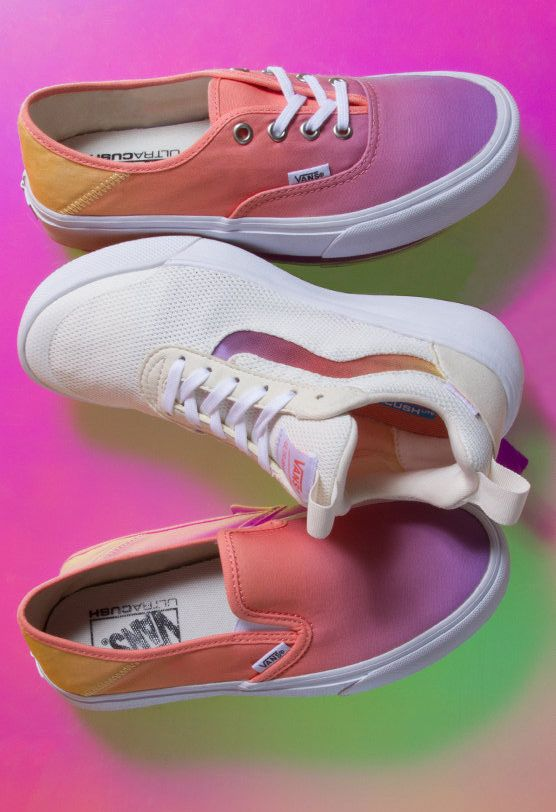 100d3ef704 Sunset Fade  New spring colors in classic styles. Shop the Slip-On SF ( Sunset Fade)