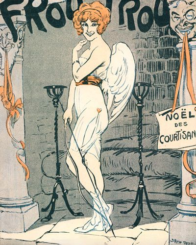 Le Frou Frou cover 'Noel des Courtisane' by an unknown artist, December 24, 1910