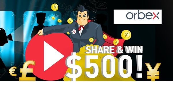 Orbex is giving out $500 no deposit balance on its popular Universal Mini account to the 10 winners with the most shares on social media networks, including Facebook, Twitter, LinkedIn and Google Plus.
