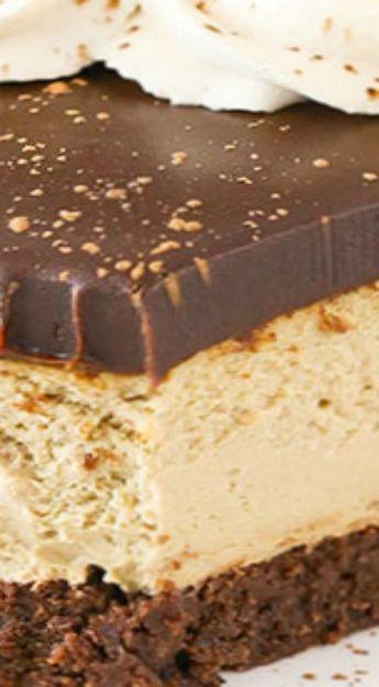 Kahlua Coffee Brownie Cheesecake