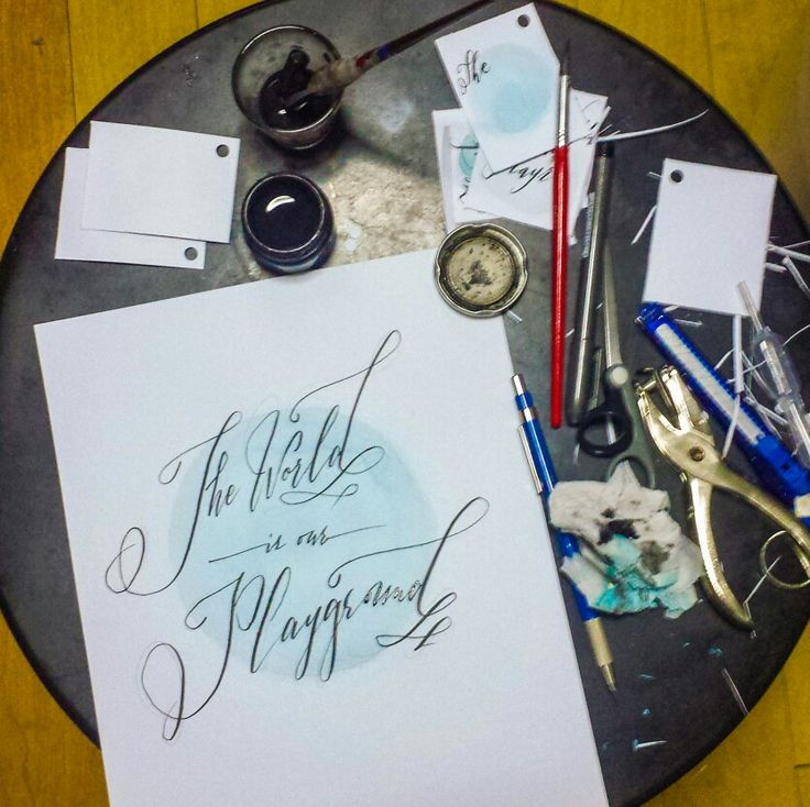 Water Color + Calligraphy