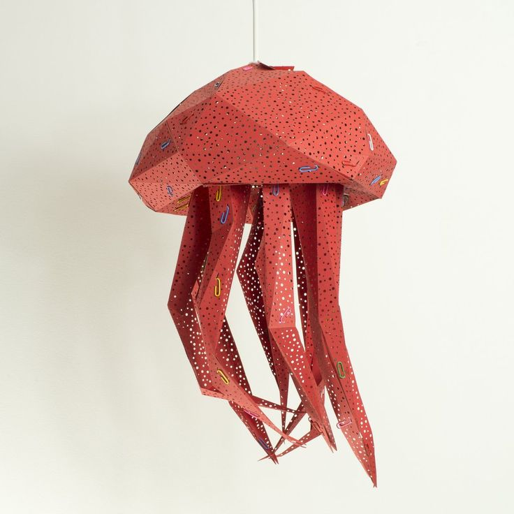 Jellyfish Light Shade Hot Red - STUDIO POP OBJECT #studiopopobject #popobject #animallamp #jellyfish #origami #lamp #light #paper #paperlamp #handmade #madeofpaper  #lampdesign #lampshade #pendantlamp #lightingdesign #homedecor #minimaldesign #creativeminds #minimalistic #minimal #minimallove #interiordesign #nordicinspiration #scandinavianstyle #nordicdesign #childrenroom #kidsroom #kids #nurserydecor #nurserylamp