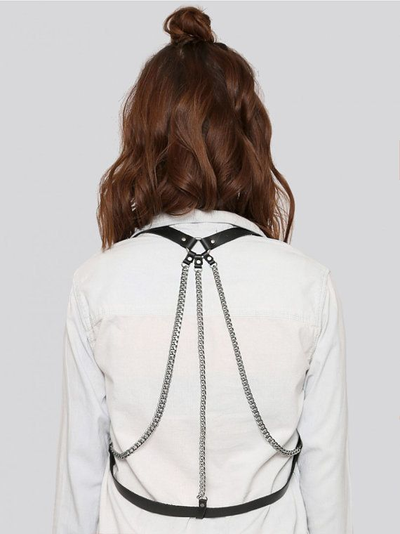Find More Belts & Cummerbunds Information about Sexy fashion adjustable leather chain body harness , night out decorative bondage straps on upper body in black,High Quality chain cable,China strapping seal Suppliers, Cheap chain wheel from CareMer China Co., Ltd. on Aliexpress.com