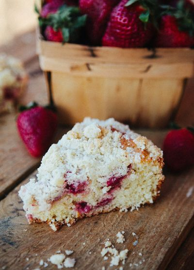 Strawberry Coffeecake with Lemon Streusel - Some the Wiser