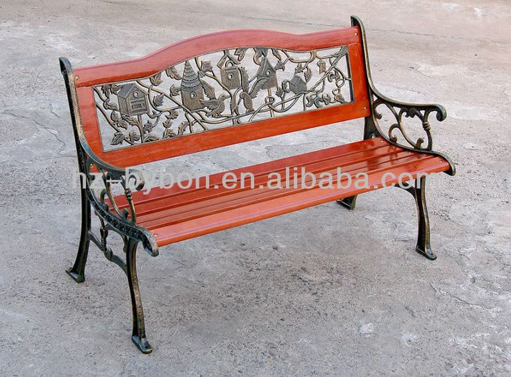Exceptional Cast Iron Park Bench Photo