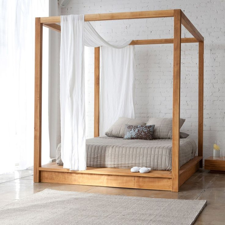PCH Series Canopy Bed The PCH Canopy Bed offers a secluded place to rest, with a minimalist approach. The bed joins tightly together with ultra clean lines, and the solid teak construction brings a presence of its own. The