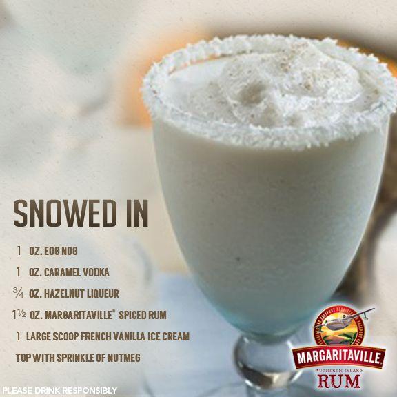 Snowed In Frozen Cocktail With Margaritaville Spiced Rum