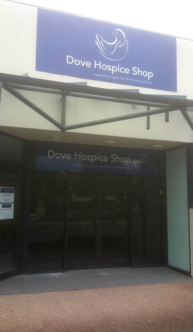 Shop signage for Dove Hospice by Speedy Signs Newton