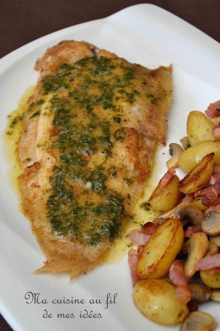 Sole meunière et fricassée de pommes de terre aux lardons et champignons | Sole meuniere. Cuisine italienne. Recettes de cuisine