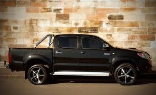 Black Toyota Hilux Ute