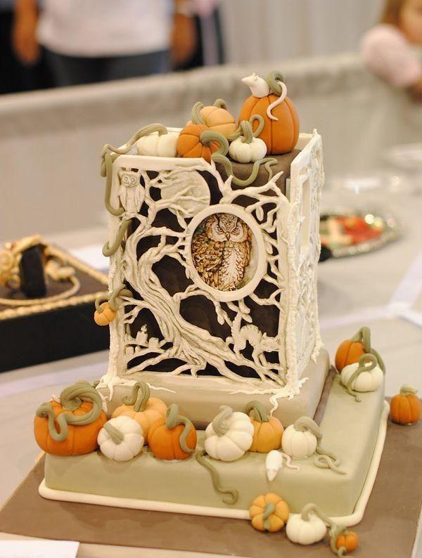Жуткие и страшные торты на Хэллоуин - halloween pumpkins