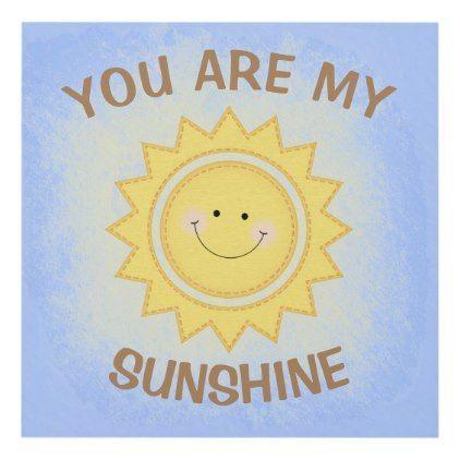 "#""You Are My Sunshine"" Pastel Cute Nursery Sun Panel Wall Art - #nurseryart #nursey #art #baby #cute #print #babies"