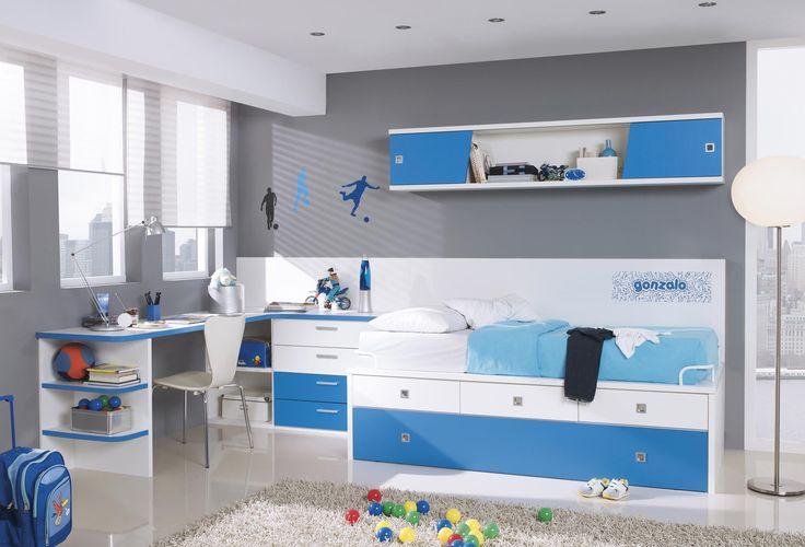 El azul es un color relajante,ideal para una habitación para niños. Descubre nuestra gama de productos en nuestra web #bed #decoración #hogar #diseño #tendencia