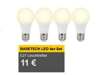 Allyouneed: Viererpack LED-Birnen für elf Euro frei Haus https://www.discountfan.de/artikel/technik_und_haushalt/allyouneed-viererpack-led-birnen-fuer-elf-euro-frei-haus.php Bei Allyouneed ist ab sofort ein Viererpack LED-Birnen von Basetech zum Schnäppchenpreis von elf Euro frei Haus zu haben – macht pro energiesparendem Leuchtmittel gerade einmal 2,75 Euro mit Versand. Allyouneed: Viererpack LED-Birnen für elf Euro frei Haus (Bild: Allyouneed.com) Das V... #E27,