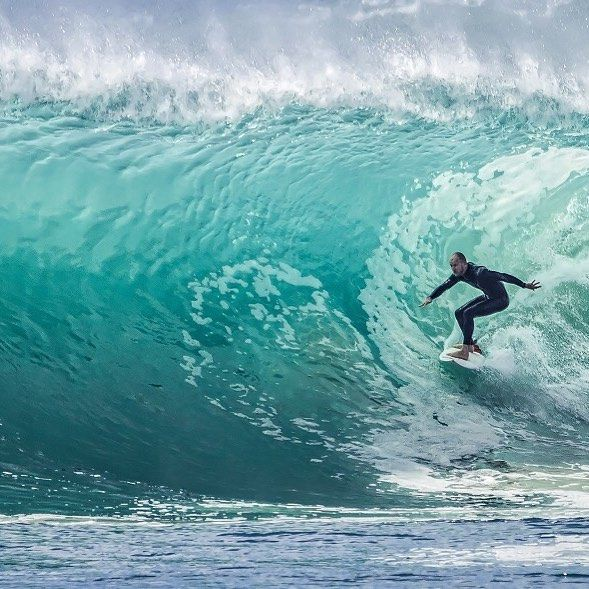 Do we have any surfers in the house? If so what's your favorite place to surf? This picture was taken at North Beach in South Africa