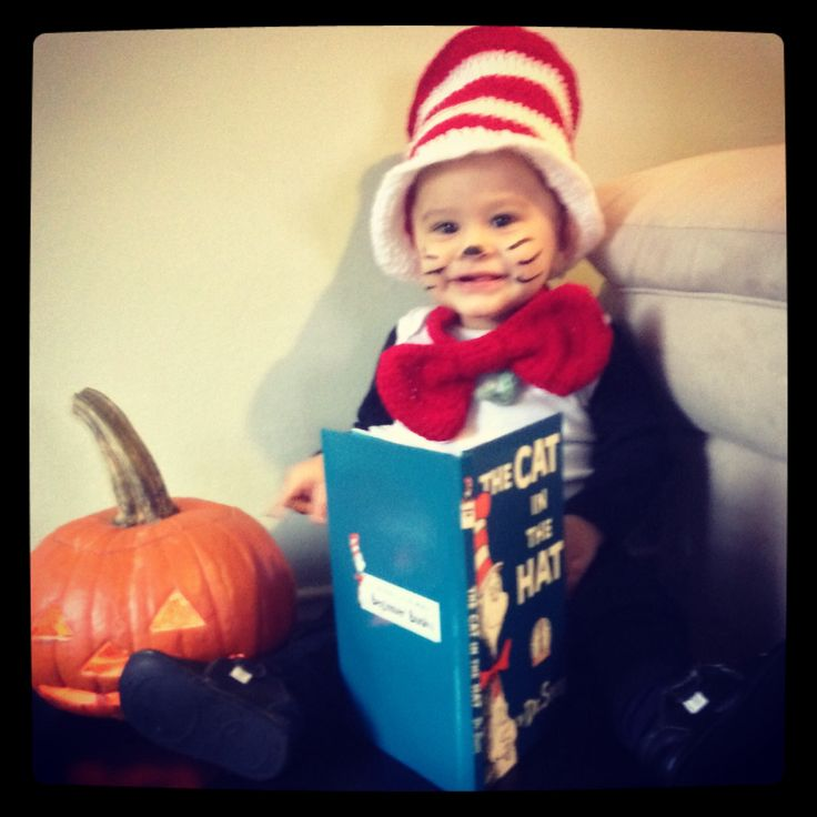 The Cat in the Hat baby costume 1 st halloween