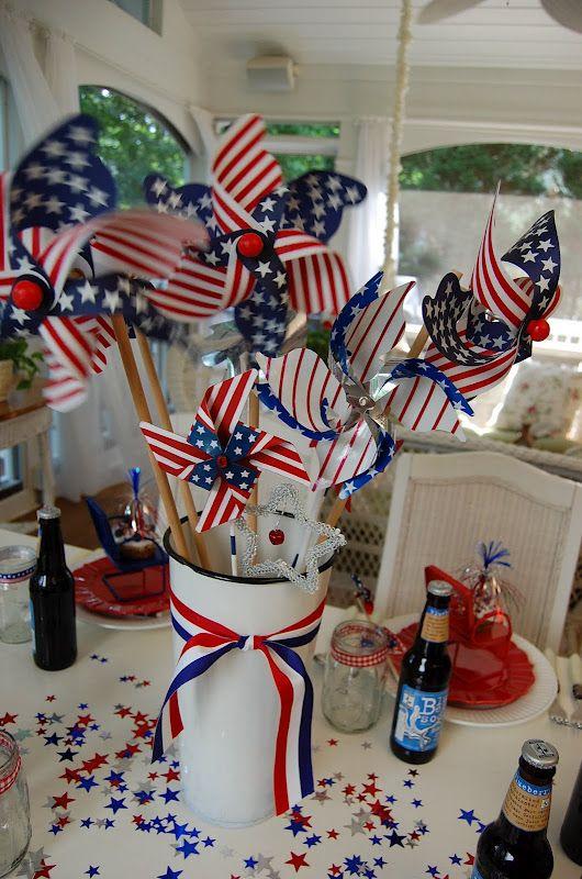A Patriotic Celebration Table Setting Decorating Ideas