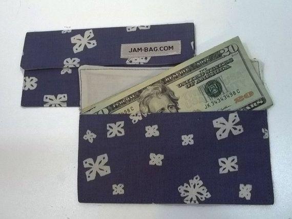 Safre bleu fleur japonaise Motif - Japon motif Floral - argent enveloppes, enveloppes, enveloppes d'argent tissu, tissu argent enveloppes en espèces