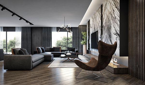 Luxury Apartment On Behance Elegant Living Room Luxury Apartments Interior Luxury Living Room Design