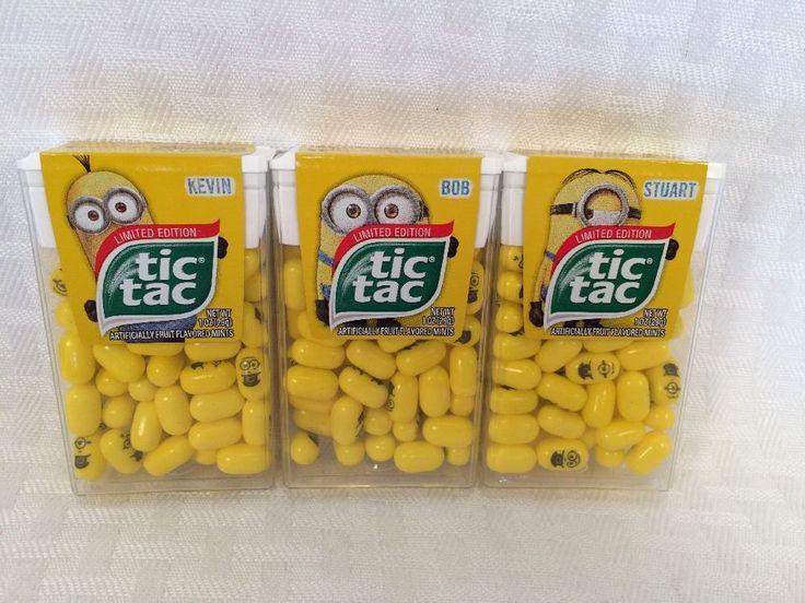 Despicable Me Minion Tic Tac Limited Edition Stuart Bob Kevin Set Of 3