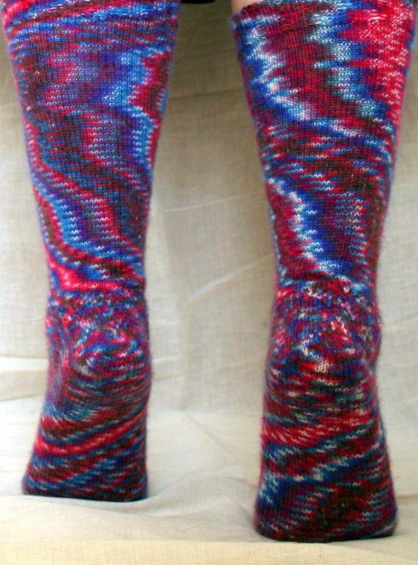 FO – Toe-Up Eye of Partridge Heel Socks | Vickilicious Knits