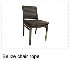 Belize Rope Chair. Patio Furniture. Outdoor Furniture, Aluminum & Polycane.