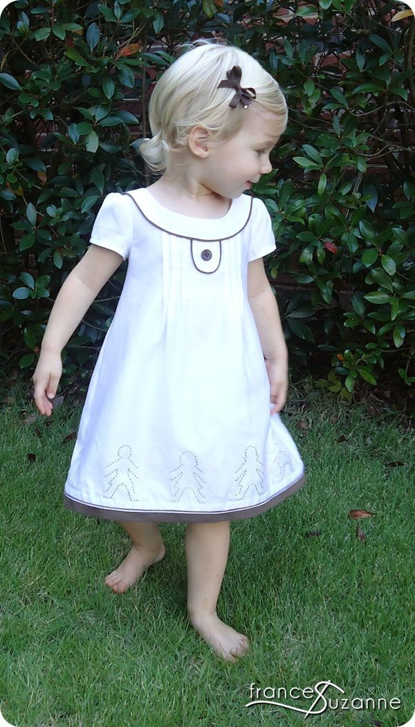 embroidered hem on the Oliver + S Family Reunion Dress sewing pattern. Beautiful detail!