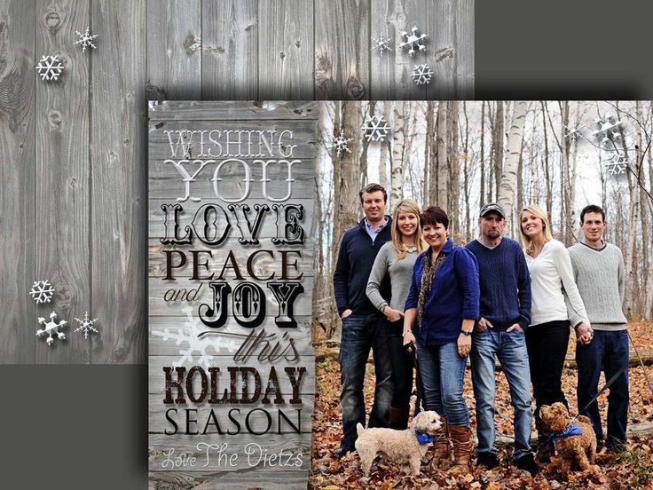 """Rustic """"Love, Peace and Joy"""" front and back"""