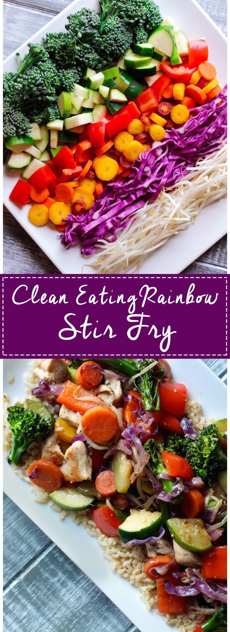 Rainbow Stir-Fry Pinterest