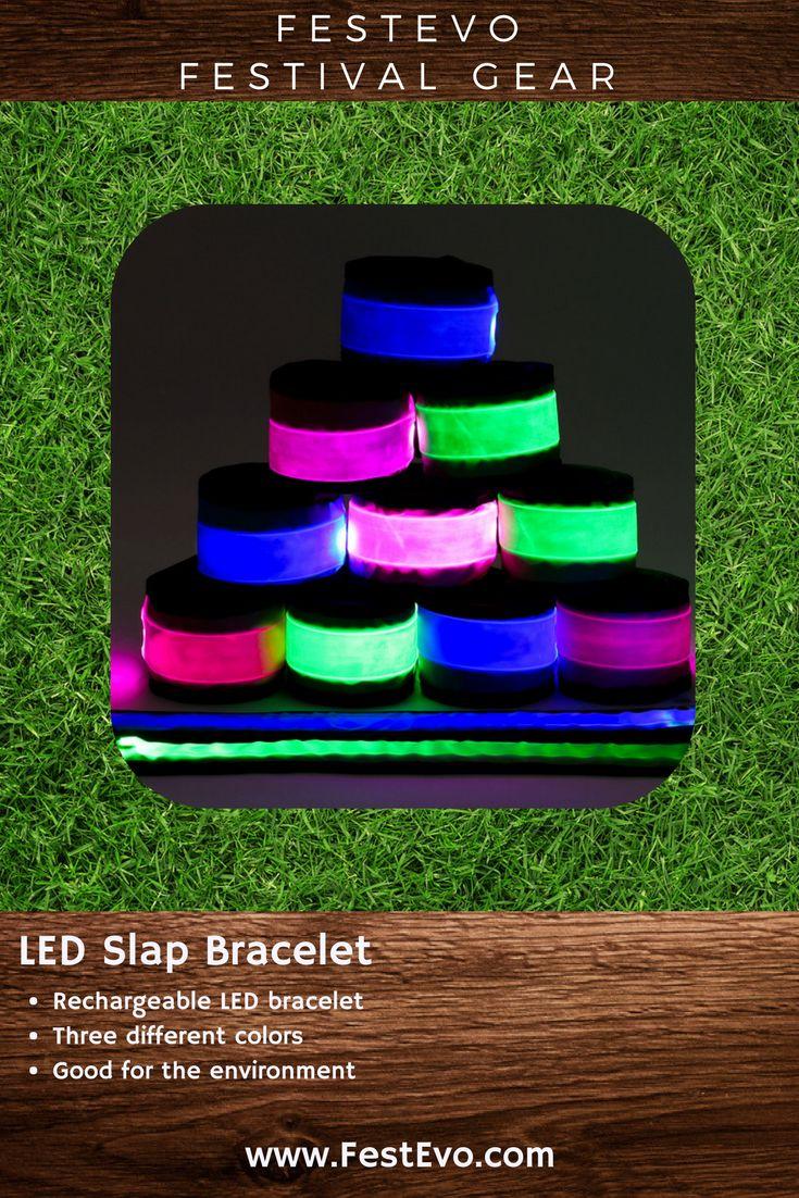 FestEvo Festival Gear - LED Slap Bracelet - Rechargeable light up bracelets so you can #FestivalBetter