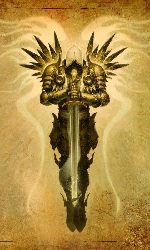 archangel tyrael in diablo 3 game   HD  HD Wallpaper