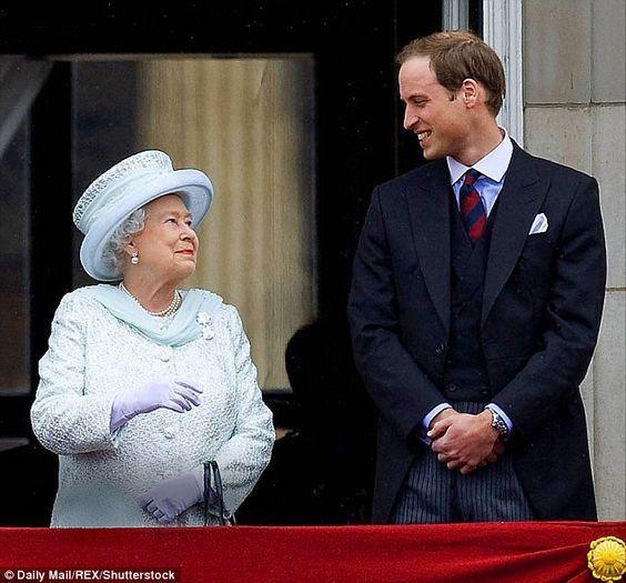 Queen Elizabeth and her grandson Prince William.