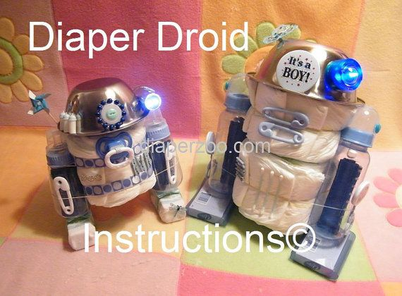 diaper cake centerpiece instructions