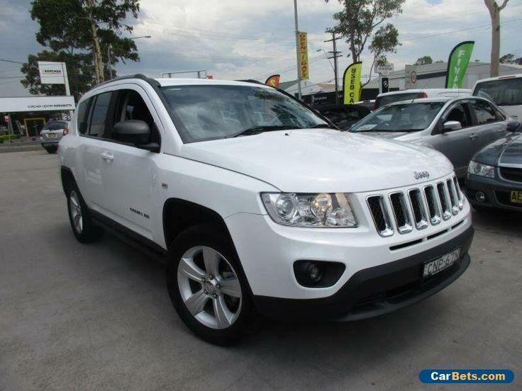2012 Jeep Compass MK MY12 Sport White Automatic 6sp A Wagon #jeep #compass #forsale #australia
