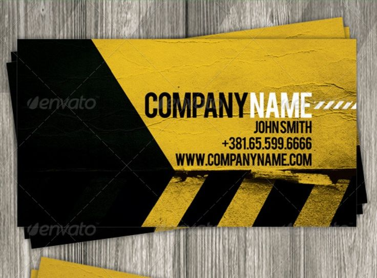 Best Construction Business Card Template PSD And InDesign - Business card indesign template
