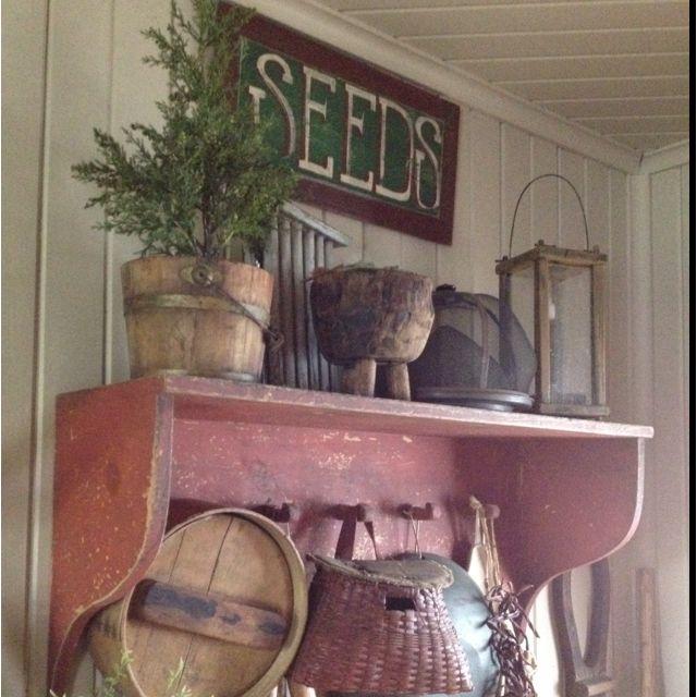 Primitive shelf...needs a sheep :)