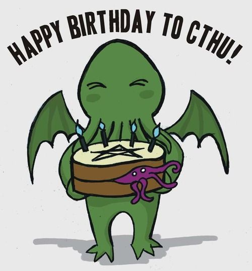 Aug 22nd: Happy Birthday to Cthu!  A cute Cthulhu inspired birthday message.  By QueenHare for the Design Every Day Project
