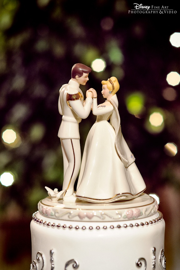 Cinderella + Prince Charming cake topper