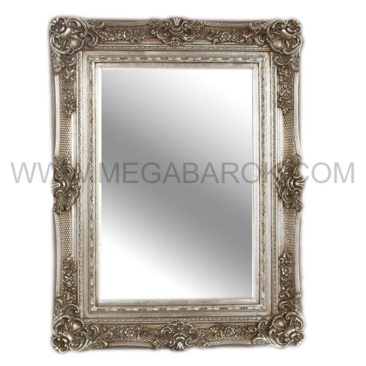 Barok Spiegel Rechthoek zilver-1