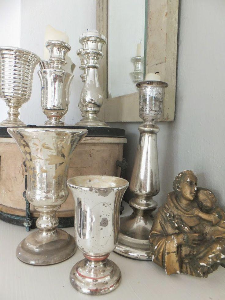 Best Mercury Glass Images On Pinterest Mercury Glass Deko