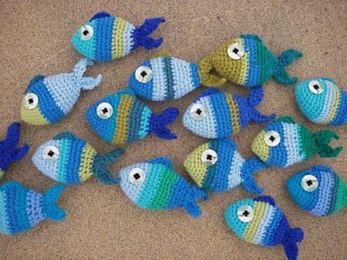 Ravelry: Striped crochet fish pattern by vicky vicx