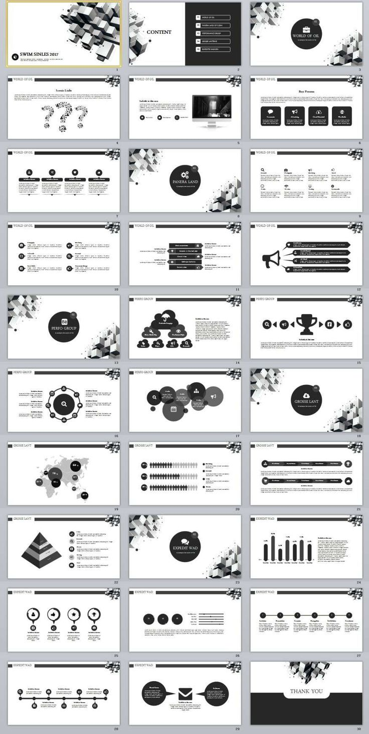 30+ black white business Design PowerPoint templates