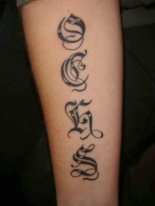 Cute Name Tattoos: Cute Arm Name Tattoo Ideas For Women