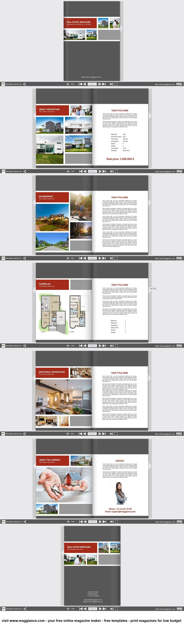 free online brochure maker template
